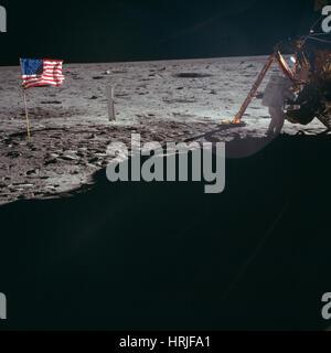 Neil Armstrong, Apollo 11 astronauta, LM Foto Stock