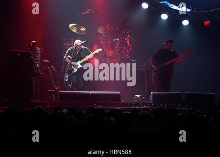 Wroclaw, Polonia. 3 Marzo, 2017. Australian Pink Floyd compie durante l'impostazione visiva, 'il lato migliore della Foto Stock