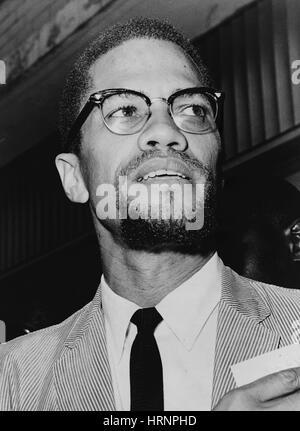 Malcolm X, American attivista per i Diritti Umani Foto Stock