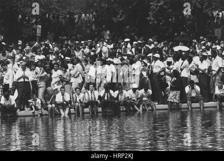 Marzo su Washington per i posti di lavoro e di libertà, 1963 Foto Stock