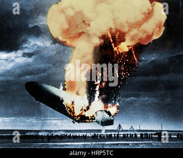 Hindenburg Disaster, 6 maggio 1937 Foto Stock
