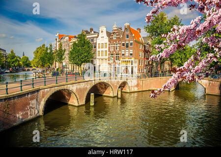 Ponti su canali di Amsterdam a molla