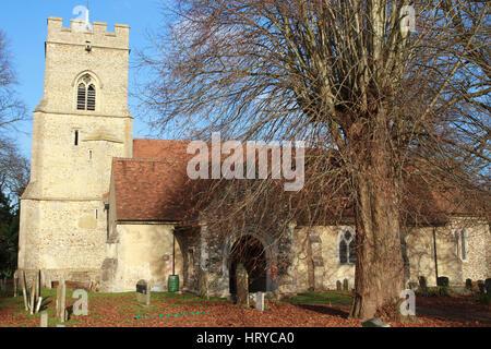Chiesa della Santa Trinità in Takeley, Essex, Inghilterra.