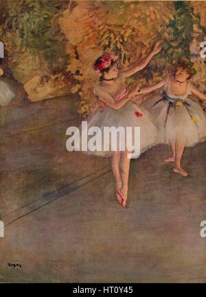 """"""" Due ballerini sul palco',1874. Foto Stock"""