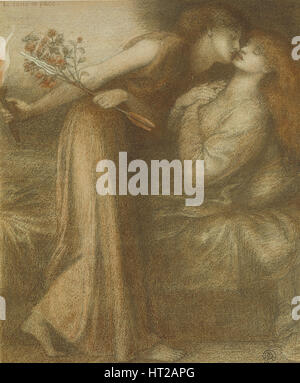 Dante's Dream il giorno della morte di Beatrice (Io sono in pace), 1875. Artista: Rossetti, Dante Gabriel (1828-1882)