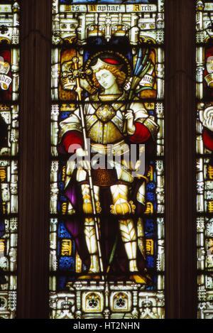 San Alban nella finestra Occidentale di Hereford Cathedral, Inghilterra, xx secolo. Artista: CM Dixon.