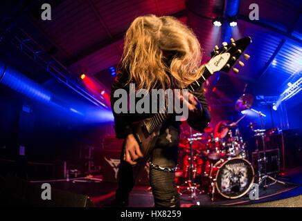 Manimal performing live in concerto presso il motore camere dotate di Southampton: Manimal dove: Southampton, Regno Foto Stock