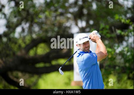 Austin, Texas, Stati Uniti d'America. Il 26 marzo 2017. Dustin Johnson in azione presso il World Golf Championships Foto Stock