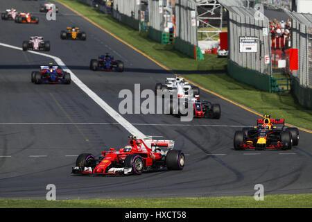 Melbourne, Australia. 26 Mar, 2017. Motorsports: FIA Formula One World Championship 2017, il Gran Premio d'Australia, #7 Kimi Raikkonen (FIN, la Scuderia Ferrari),   Utilizzo di credito in tutto il mondo: dpa/Alamy Live News