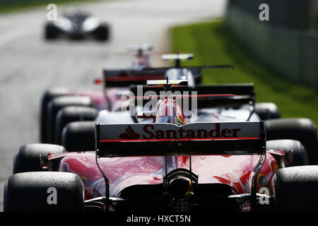 Melbourne, Australia. 26 Mar, 2017. Motorsports: FIA Formula One World Championship 2017, il Gran Premio d'Australia, #5 Sebastian Vettel (GER, la Scuderia Ferrari),   Utilizzo di credito in tutto il mondo: dpa/Alamy Live News