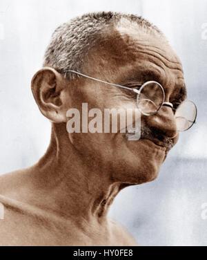 Indian combattenti per la libertà, il mahatma Gandhi, India, Asia, 1930 Foto Stock