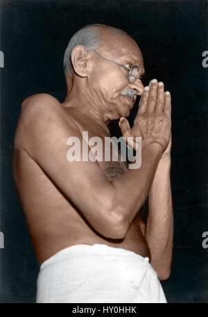 Indian combattenti per la libertà, il mahatma Gandhi, India, Asia, 1946 Foto Stock