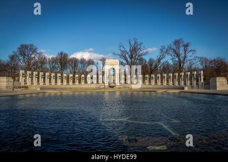 Il Memoriale della Seconda guerra mondiale - WASHINGTON, STATI UNITI D'AMERICA Foto Stock
