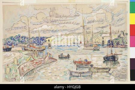 Paul Signac 11. 11. 1863 15. 8. 1935 Lezardrieux Foto Stock