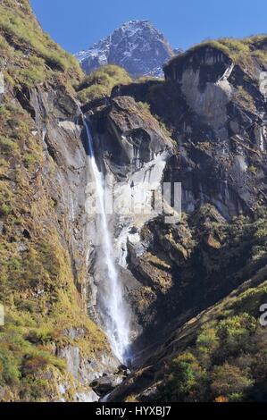 Il Nepal, Annapurna Area di Conservazione, Trek di Annapurna Base Camp in Nepal Himalaya Foto Stock