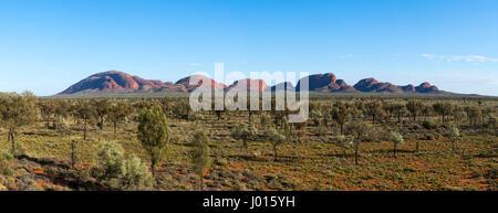L'Olgas o Kata Tjuta, Uluru-Kata Tjuta National Park, il Territorio del Nord, l'Australia Foto Stock