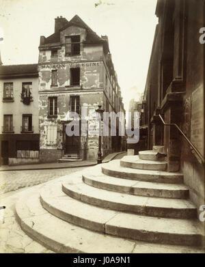 Eugène Atget - Rue de la Montagne-Sainte-Genevievè - Foto Stock