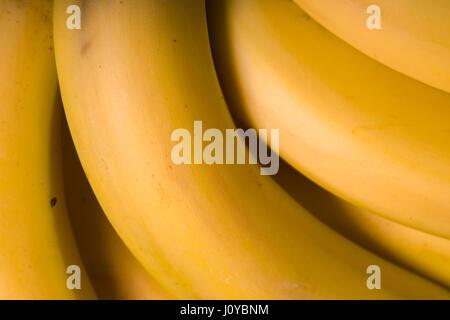 Fresche biologiche Banana vista superiore closeup Foto Stock