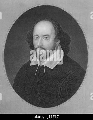 William Shakespeare (1564-1616), poeta inglese, drammaturgo e attore, Ritratto Foto Stock