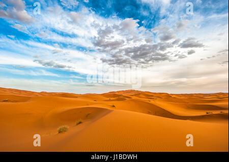 Le dune di sabbia di Erg Chebbi, Marocco Foto Stock