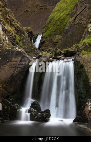 Mulino spekes bocca cascata nel nord-ovest del Devon. Foto Stock