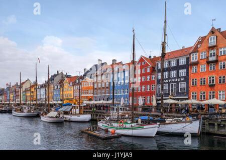 Nyhavn, Copenhagen, Danimarca e Scandinavia Foto Stock