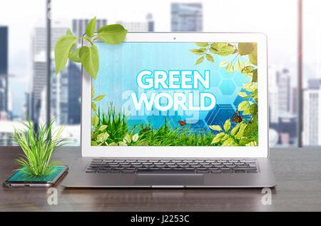Progetto di business - per salvare il mondo. Concetto di ecologia. Foto Stock