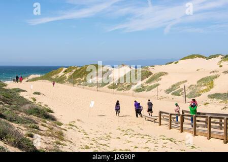 Stati Uniti, California, Oso Flaco parco statale, parte dell Oceano Dune SVRA (stato veicolare Area ricreativa) Foto Stock