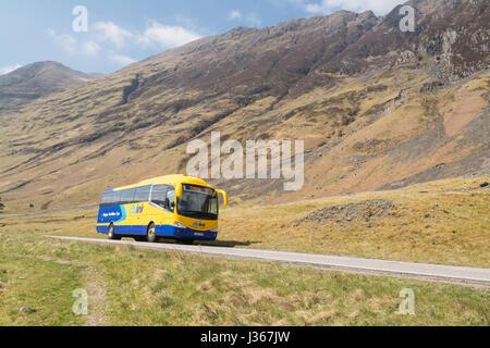 Citylink pullman - Scottish Citylink viaggia attraverso le Highlands scozzesi tra Skye e Glasgow, Scotland, Regno Foto Stock