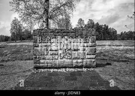 Il Bergen Belsen campo di concentramento Foto Stock