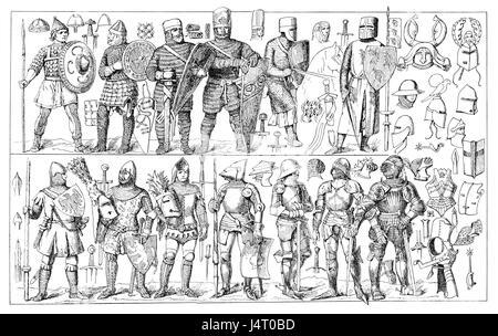 Arte della guerra, abbigliamento, armature e armi attraverso il medioevo