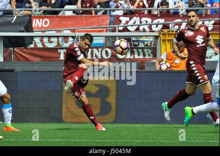 Torino, Italia. 14 Maggio, 2017. Iago Falque durante il match di Serie A TIM tra Torino FC e SSC Napoli presso lo Foto Stock
