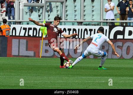 Torino, Italia. 14 Maggio, 2017. Lucas Boye durante il match di Serie A TIM tra Torino FC e SSC Napoli presso lo Foto Stock