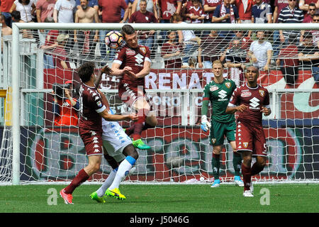 Torino, Italia. 14 Maggio, 2017. Andrea Belotti durante il match di Serie A TIM tra Torino FC e SSC Napoli presso Foto Stock
