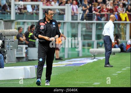 Torino, Italia. 14 Maggio, 2017. Maurizio Sarri durante il match di Serie A TIM tra Torino FC e SSC Napoli presso Foto Stock