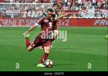 Torino, Italia. 14 Maggio, 2017. Davide Zappacosta durante il match di Serie A TIM tra Torino FC e SSC Napoli presso Foto Stock
