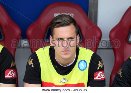 Torino, Italia. 14 Maggio, 2017. Arkadiusz Milik (SSC Napoli) durante la serie di una partita di calcio tra Torino Foto Stock