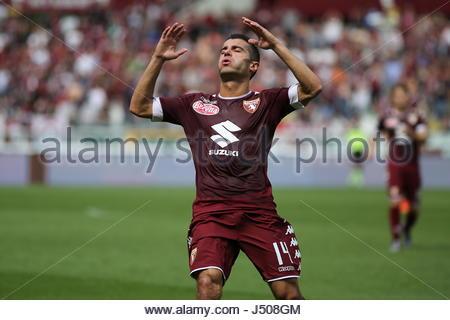 Torino, Italia. 14 Maggio, 2017. Iago Falque (Torino FC) durante la serie di una partita di calcio tra Torino FC Foto Stock