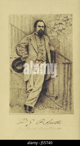 Le opere poetiche di Dante Gabriel Rossetti. Modificati con prefazione di W. M. Rossetti. Una nuova edizione di Foto Stock