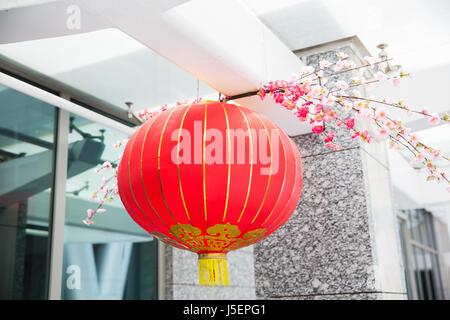 Decorazioni Con Lanterne Cinesi : Soffitto decorato con appeso le lanterne cinesi foto immagine