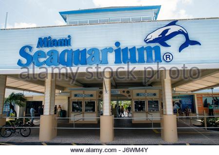 Chiave di Miami Florida BiscayneMiami Seaquarium ingresso Foto Stock
