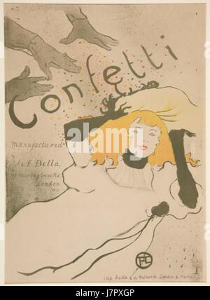 Coriandoli da Henri de Toulouse Lautrec 1894 Foto Stock