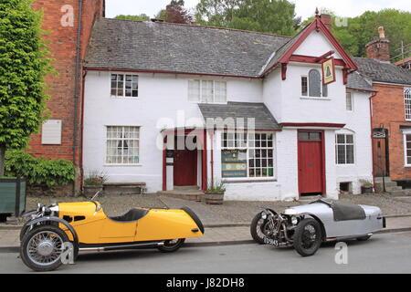 Old Bell Museo di storia locale, Arthur Street, Montgomery, Montgomeryshire, Powys, il Galles, la Gran Bretagna, Foto Stock