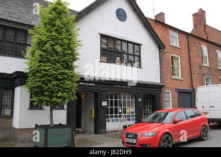 Modello Cloverlands Museo delle auto e una biblioteca pubblica, Arthur Street, Montgomery, Montgomeryshire, Powys, Foto Stock