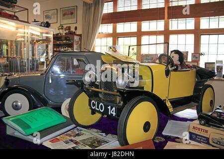Modello Cloverlands Car Museum, Arthur Street, Montgomery, Montgomeryshire, Powys, il Galles, la Gran Bretagna, Foto Stock