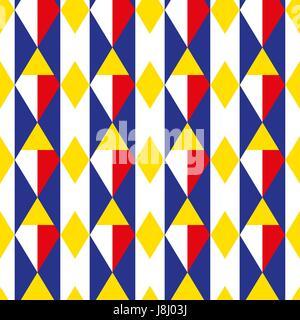 Rombo geometrico modello senza giunture. Gabbia sfondo infinito. Square texture ripetitive. Sfondo alla moda per i prodotti tessili. Illustrazione Vettoriale. Foto Stock