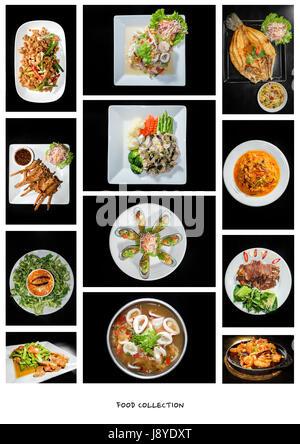 Una raccolta di cibo di fusione Foto Stock