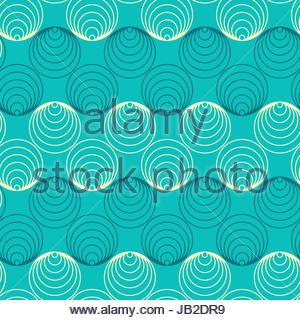 df1d546656 Cerchi grafico nastri seamless pattern in sfumature di blu Foto Stock