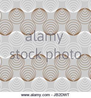 af72daa7e7 Cerchi grafico nastri seamless pattern in argento e oro Foto Stock