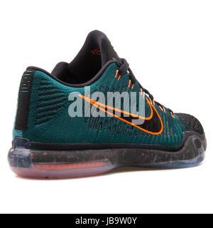 Nike Kobe X Elite bassa nero, verde scuro e arancione uomini